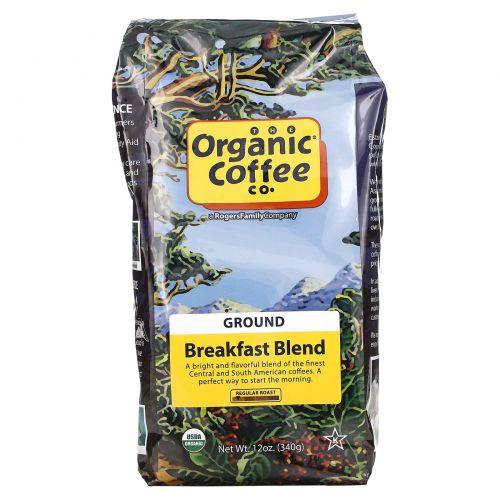 Organic Coffee Co., Breakfast Blend, Молотый кофе, 12 унций (340 г)