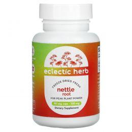 Eclectic Institute, Корень крапивы, сырой, 250 мг, 90 вегетарианских капсул без ГМО