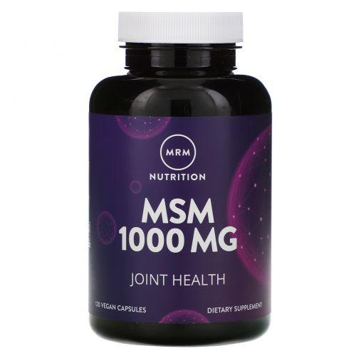 MRM, МСМ, 1000 мг, 120 растительных капсул