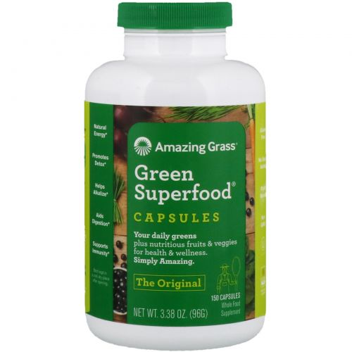 Amazing Grass, Green SuperFood, 650 мг, 150 капсул