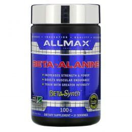 ALLMAX Nutrition, 100%-ный чистый бета-аланин максимальной силы + усвоение, 3200 мг, 3,5 унции (100 г)