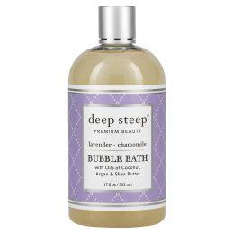 Deep Steep, Пена для ванны, Лаванда и ромашка, 17,5 жидких унций (517 мл)