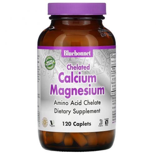 Bluebonnet Nutrition, Хелатный кальций и магний, 120 капсул