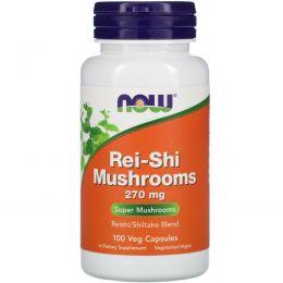 Now Foods, Грибы рейши (трутовик лакированный), 270 мг, 100 капсул