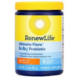 Renew Life, Ultimate Flora, пробиотики для детей, 4 млрд. живых культур, 2,1 унц. (60 г)