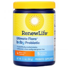 Renew Life, Ultimate Flora, пробиотик для младенцев, 60 г