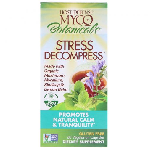 Fungi Perfecti, MycoBotanicals, Stress Decompress, 60 вегетарианских капсул