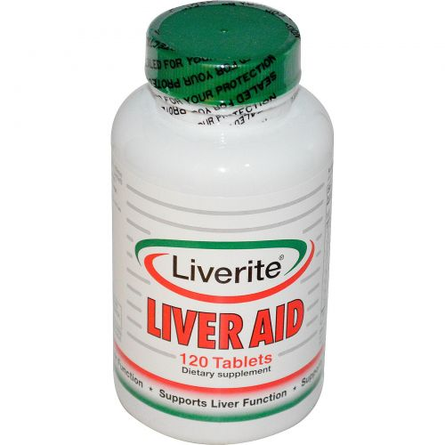 Liverite, Поддержка печени, 120 таблеток