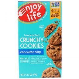 Enjoy Life Foods, Хрустящее печенье ручной работы с кусочками шоколада, 6,3 унции (179 г)
