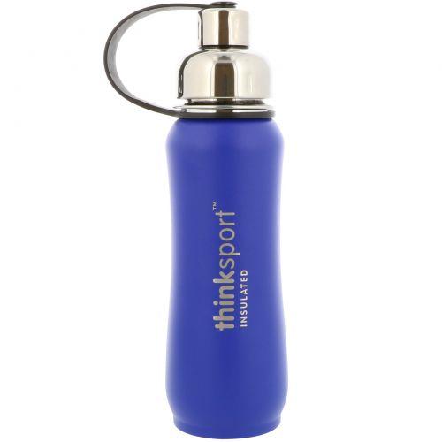 Think, Thinksport, Изолированная спортивная бутылка, Синяя, 17 унций (500 мл)