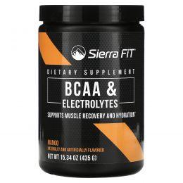 Sierra Fit, Аминокислоты с разветвленными цепями (BCAA) и электролиты, 7г BCAA, манго, 435г (15,34унции)
