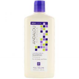 Andalou Naturals, Shampoo, For Lift, Body, and Shine, Full Volume, Lavender & Biotin, 11.5 fl oz (340 ml)