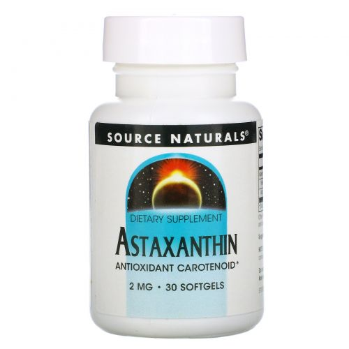 Source Naturals, Астаксантин, 2 мг, 30 капсул