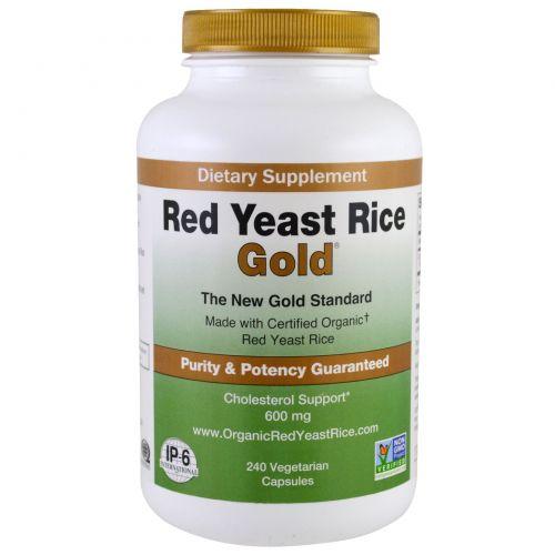 IP-6 International, Красный дрожжевой рис, золотой, 600 мг, 240 вегетарианских капсул