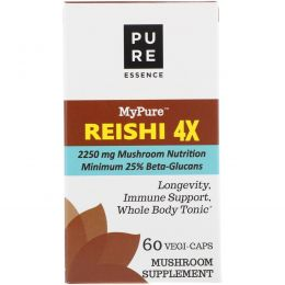 Pure Essence, MyPure, Reishi 4X, 60 Vegi-Caps