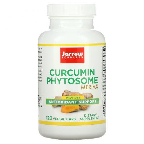 """Jarrow Formulas,  """"Meriva"""", фитосомы куркумина, 500 мг, 120 капсул в растительной оболочке"""