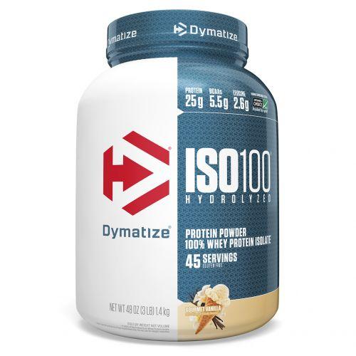 Dymatize Nutrition, ISO 100, гидролизованный, 100% изолят сывороточного протеина, ваниль для гурманов, 48 унций (1,4 кг)
