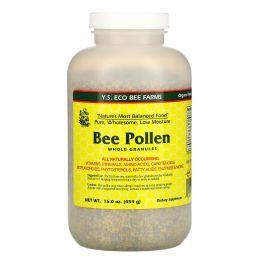 Y.S. Eco Bee Farms, Пчелиная пыльца, целые гранулы, 16.0 унций (453 г)