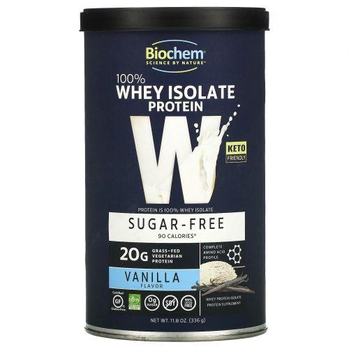 Country Life, Биохимия, 100% сывороточный белок, без сахара, ваниль, 336 г (11,8 унций)