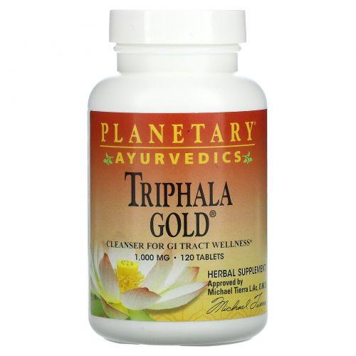 Planetary Herbals, Ayurvedics, Triphala Gold, 1000 мг, 120 таблеток