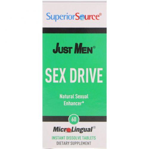 Superior Source, Just Men, Sex Drive Natural Sexual Enhancer, 60 Instant Dissolve Tablets