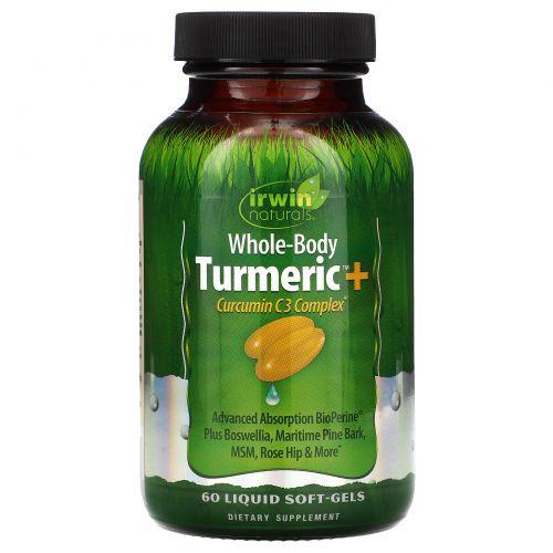 """Irwin Naturals, """"Куркума для всего тела экстра"""", пищевая добавка с куркумином, 60 мягких желатиновых капсул с жидкостью"""