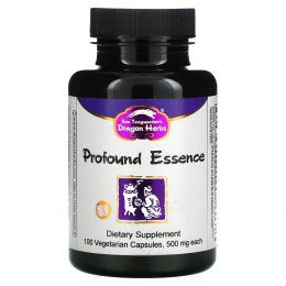 Dragon Herbs, Энергетический тоник Profound Essence, 500 мг, 100 капсул