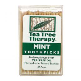 Tea Tree Therapy, Зубочистки с маслом чайного дерева, около 100 штук