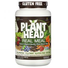 Genceutic Naturals, дополнительный источник растительного белка, клетчатки и аминокислот,шоколадный вкус, 2.3 фунта (1050 г)
