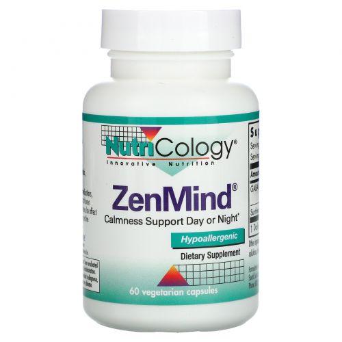 Nutricology, Пищевая добавка ZenMind, 60 растительных капсул