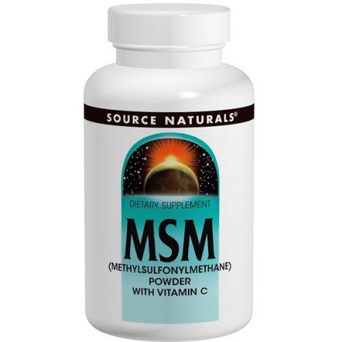 Source Naturals, МСМ (метилсульфонилметан) в порошке, с витамином C, 8 унций (227 г)