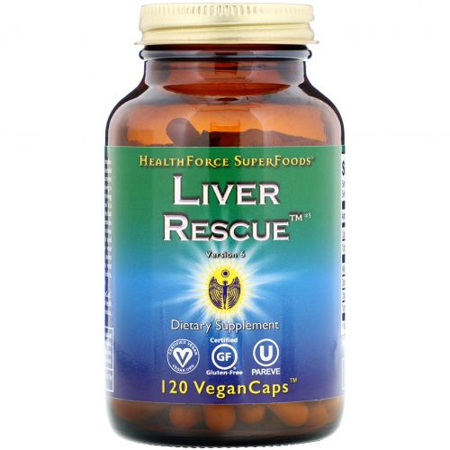 HealthForce Nutritionals, Liver Rescue, версия 5.1, 120 вегетарианских капсул