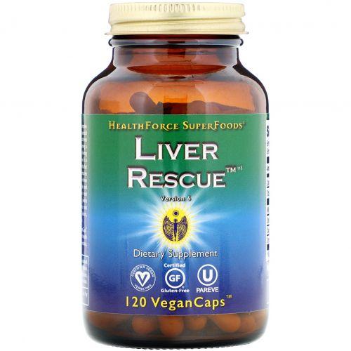 HealthForce Superfoods, Liver Rescue, версия 6, 120 веганских таблеток