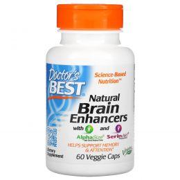 Doctor's Best, Натуральные средства для улучшения работы мозга PS и GPC, 60 вегетарианских капсул