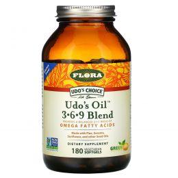 Flora, Udo's Choice, Udo's Oil 3·6·9 Смесь, 180 вегетарианских мягких капсул