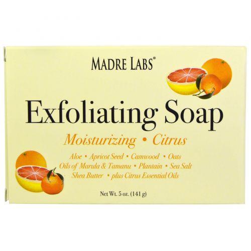 Madre Labs, Мыло-скраб с маслом марула и таману, а также маслом ши и цитрусом, 5 унций (141 г)
