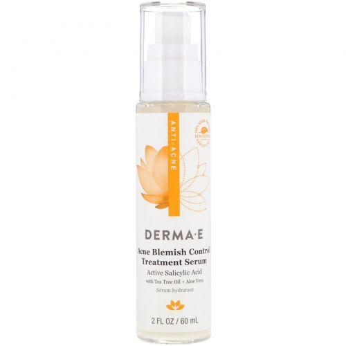 Derma E, Лечебная сыворотка против недостатков кожи и акне, 2 ж. унц. (60 мл)