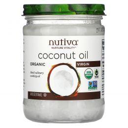 Nutiva, Органический суперпродукт, кокосовое масло, Virgin, 15 жидкой унции (444 мл)