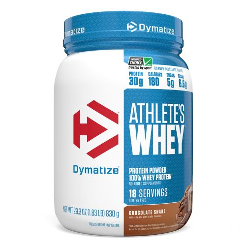 Dymatize Nutrition, Athlete's Whey, молочная сыворотка, шоколадный шейк, 828г (1,83фунта)