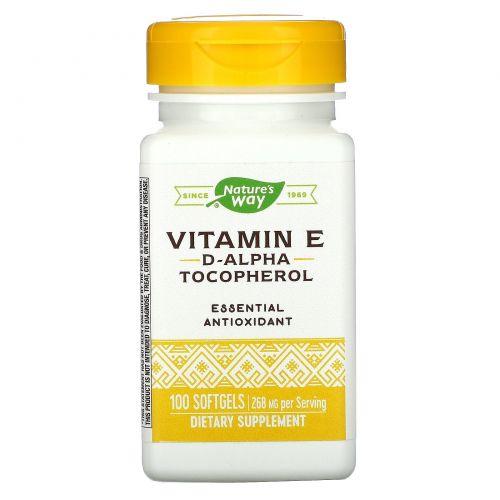 Nature's Way, Витамин E-400, 400 МЕ, 100 жидких гелевых капсул