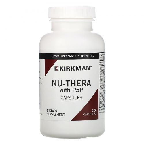 Kirkman Labs, Ну-Тера с P-5-P (пиридоксаль-5-фосфата), 300 капсул по 50 мг