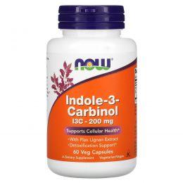 Now Foods, Индол-3-карбинол, 200 мг, 60 вегетерианских капсул
