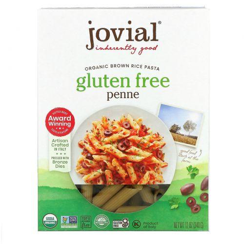 Jovial, Коричневая рисовая паста, Penne Rigate, органический продукт, 12 унций (340 г)