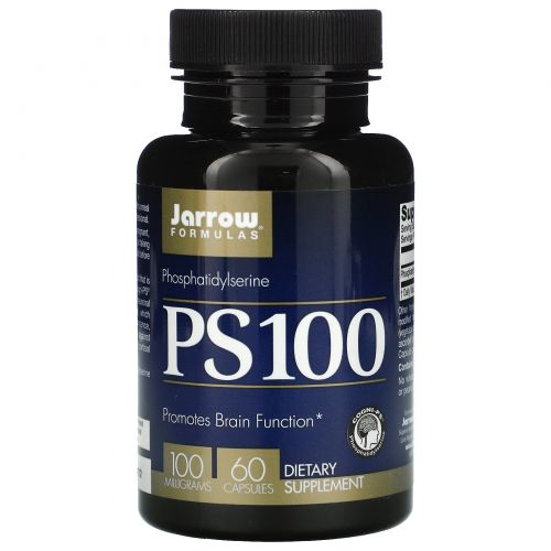 Jarrow Formulas, PS-100, фосфатидилсерин, 100 мг, 60 капсул
