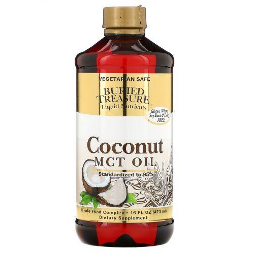 Buried Treasure, Жидкие питательные вещества, кокосовое масло, 16 жидких унций (473 мл)