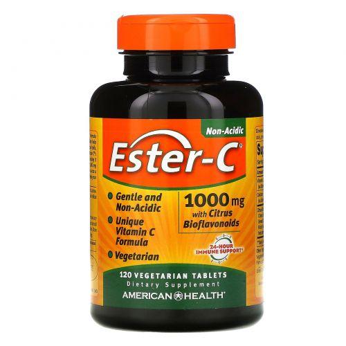 American Health, Эстер-C, 1000 мг, 120 растительных таблеток