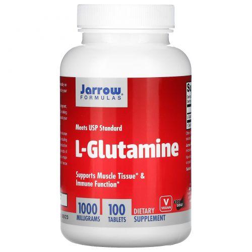 Jarrow Formulas, L-глутамин, 1000 мг, 100 таблеток