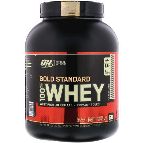 "Optimum Nutrition, Gold Standard 100% Whey, Cookies & Cream (""Печенье со сливками""), 5 фунтов (2,27 кг)"