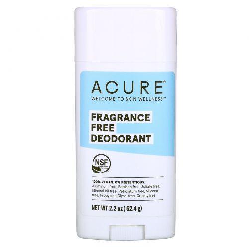 Acure, Дезодорант, без отдушек, 63,78 г