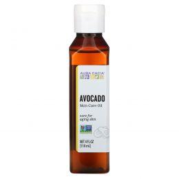 """Aura Cacia, Натуральное масло для ухода за кожей, """"Успокаивающее авокадо"""", 4 жидких унции (118 мл)"""